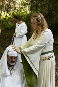Consecration of Timothy (Archdruid of Air) by Dana (Grand Archdruid)