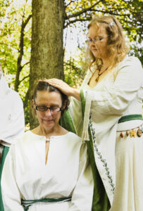 Consecration of Kathleen (Archdruid of Fire) by Dana (Grand Archdruid)